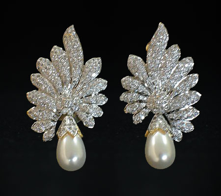 Casting Earings, Imported Earings, Indian Earings, Kunden Earings, Polky Earings, Silver Earings, Stone Earings